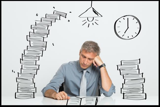 Stressed Financial Advisor